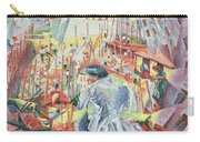 The Street Enters The House Carry-all Pouch by Umberto Boccioni