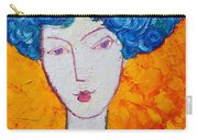 The Strength Of Grace Expressionist Girl Portrait Carry-all Pouch by Ana Maria Edulescu