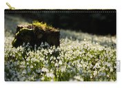 The Stump And The Snowdrops Carry-all Pouch by Anne Gilbert
