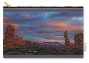 The Sun Sets At Balanced Rock Carry-all Pouch