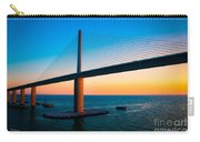 The Sunshine Under The Sunshine Skyway Bridge Carry-all Pouch by Rene Triay Photography