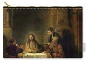 The Supper At Emmaus, 1648 Oil On Panel Carry-all Pouch