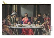 The Supper At Emmaus Carry-all Pouch by Vittore Carpaccio