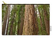 The Survivor - Massive Redwoods Sequoia Sempervirens In Redwoods National Park Named Stout Tree. Carry-all Pouch