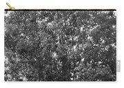 The Survivor Tree In Black And White Carry-all Pouch