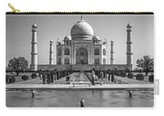The Taj Mahal Monochrome Carry-all Pouch