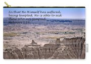 The Temptation Of Jesus Hebrews 2 18 Carry-all Pouch