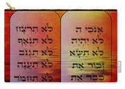 The Ten Commandments - Featured In Comfortable Art Group Carry-all Pouch