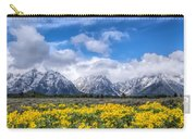 The Teton Mountain Range In The Spring Grand Teton National Park Carry-all Pouch