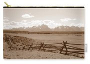 The Tetons In Sepia Carry-all Pouch