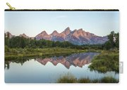 The Tetons Reflected On Schwabachers Landing - Grand Teton National Park Wyoming Carry-all Pouch