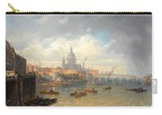 The Thames With Somerset House And St Pauls Cathedral Carry-all Pouch