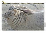 The Thinker - Elephant Seal On The Beach Carry-all Pouch