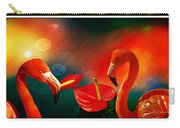 The Three Flamingos - Featured In 'feathers And Beaks' 'wildlife' And 'comfortable Art'  Groups Carry-all Pouch