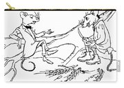 The Town Mouse And The Country Mouse Carry-all Pouch by Arthur Rackham