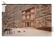 the treasury Nabataean ancient town Petra Carry-all Pouch by Juergen Ritterbach