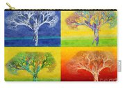 The Tree 4 Seasons - Painterly - Abstract - Fractal Art Carry-all Pouch