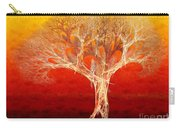 The Tree In Fall At Sunset - Painterly - Abstract - Fractal Art Carry-all Pouch by Andee Design