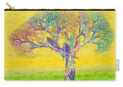 The Tree In Spring At Midday - Painterly - Abstract - Fractal Art Carry-all Pouch by Andee Design
