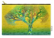 The Tree In Summer At Sunrise - Painterly - Abstract - Fractal Art Carry-all Pouch
