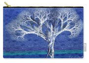 The Tree In Winter At Dusk - Painterly - Abstract - Fractal Art Carry-all Pouch
