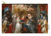 The Triptych Of Saint Ildefonso Altar Carry-all Pouch
