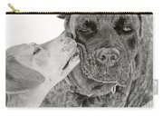 The Unconditional Love Of Dogs Carry-all Pouch by Sarah Batalka