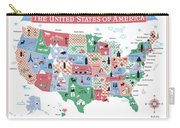 The United States Of America Map Carry-all Pouch