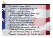 The U.s.a. Flag Poetry Art Poster Carry-all Pouch by Stanley Mathis