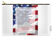 The U.s.a. Flag Poetry Art Poster Carry-all Pouch