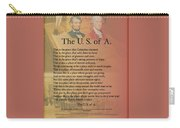 The Usa Presidents Lincoln Washington Potery Art Print Carry-all Pouch