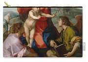 The Virgin And Child Between Saint Matthew And An Angel Carry-all Pouch