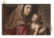 The Virgin And Child Carry-all Pouch by Jan van Bijlert or Bylert