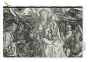 The Virgin And Child Surrounded By Angels Carry-all Pouch by Albrecht Durer or Duerer