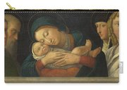 The Virgin And Child With Four Saints Carry-all Pouch