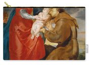 The Virgin Presents The Infant Jesus To Saint Francis Carry-all Pouch