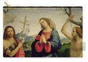 The Virgin With Saints Sebastian And John The Baptist Carry-all Pouch