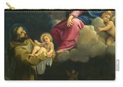 The Vision Of Saint Francis  Carry-all Pouch by Carracci Ludovico