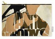 The Walking Dead Inspired Daryl Dixon Typographic Artwork Carry-all Pouch