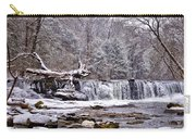 The Waterfall Near Valley Green In The Snow Carry-all Pouch