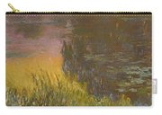 The Waterlilies At Setting Sun Carry-all Pouch