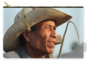 The Weathered Face Of An Ox Cart Driver Carry-all Pouch