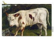 The White Calf Carry-all Pouch by Gustave  Courbet