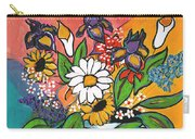 The White Daisy Carry-all Pouch