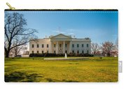 The White House In Washington Dc With Beautiful Blue Sky Carry-all Pouch