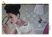 The White Lace Dress Carry-all Pouch by Dorina  Costras
