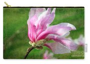 The Windblown Pink Magnolia - Flora - Tree - Spring - Garden Carry-all Pouch