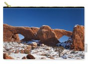 The Windows In Snow Arches National Park Utah Carry-all Pouch