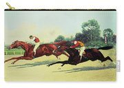 The Winning Post In Sight Carry-all Pouch by Henry Stull