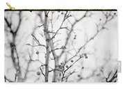 The Winter Pear Tree In Black And White Carry-all Pouch